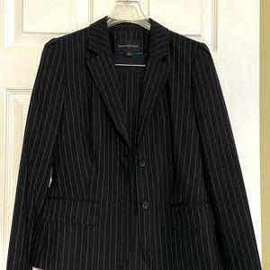 Banana Republic Navy Pinstripe Skirt Suit